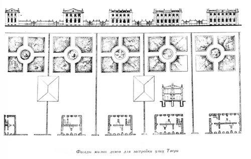 Тверь, фасады домов для застройки города