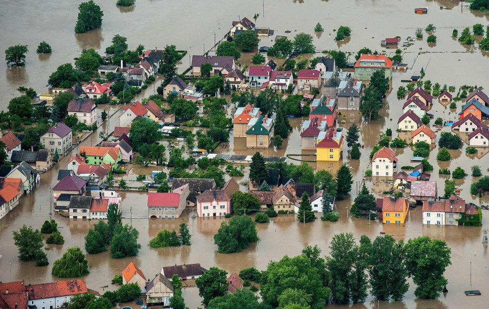 наводнение в европе, фото наводнения в европе