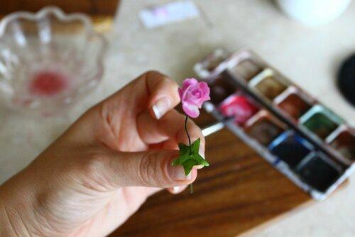 Маленькие цветочки - розы для куколок. Мастер-класс
