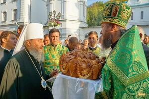 Встреча Блаженнейшего митрополита Онуфрия в Святых Горах