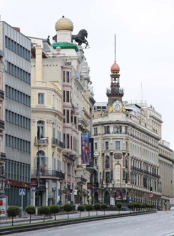Madrid. The prospect of Alcala - Western part