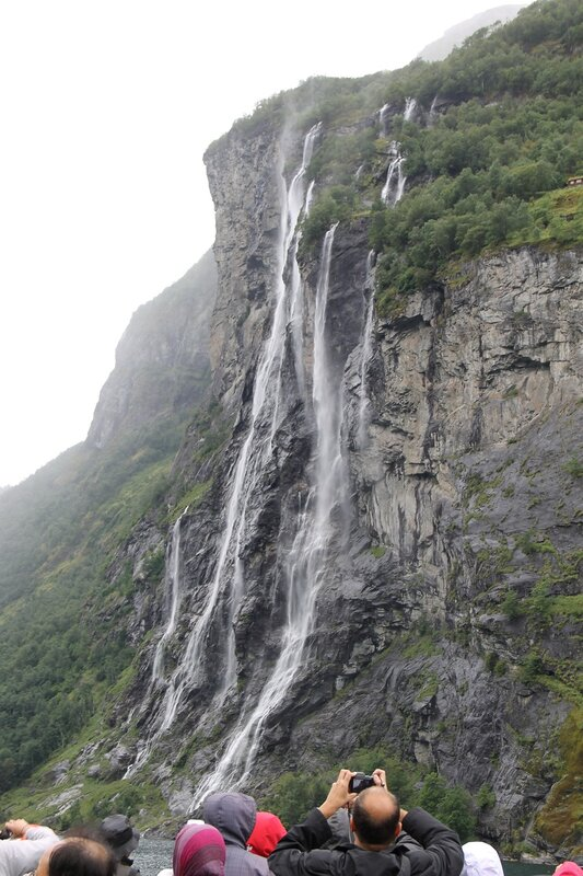 Geirangerfjord, the Seven sisters Waterfalls