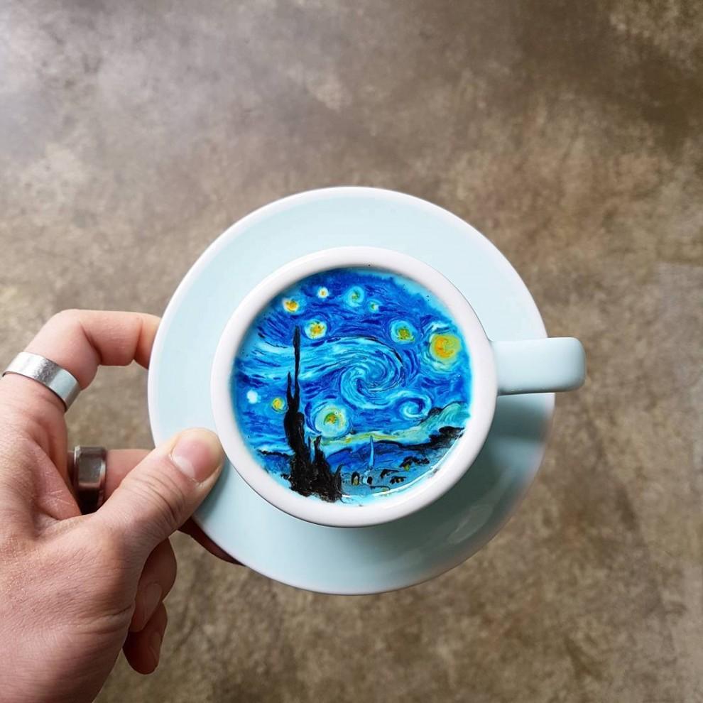 Корейский бариста, который превратит ваш латте в настоящее произведение искусства (11 фото)