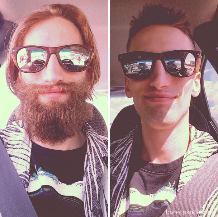 Прощание с первой бородой.