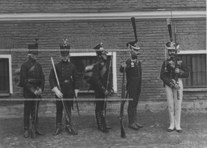 Образцы исторических форм полка  эпохи Александра I.