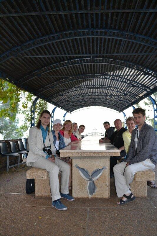 День второй. Греческая церковь Собора Двенадцати Апостолов. Галилейское море. Израиль. 2013.