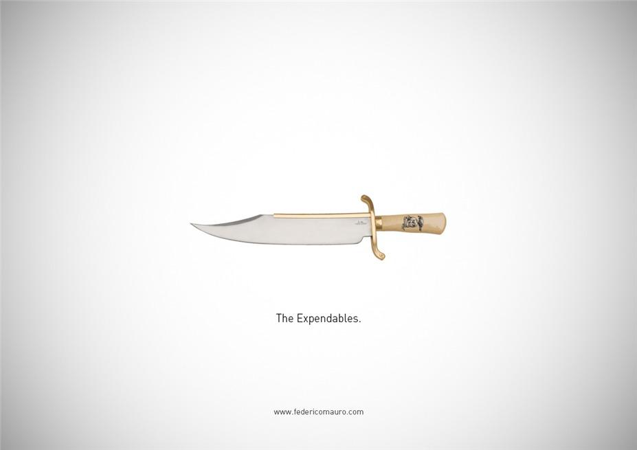 Знаменитые клинки, ножи и тесаки культовых персонажей / Famous Blades by Federico Mauro - The Expendables