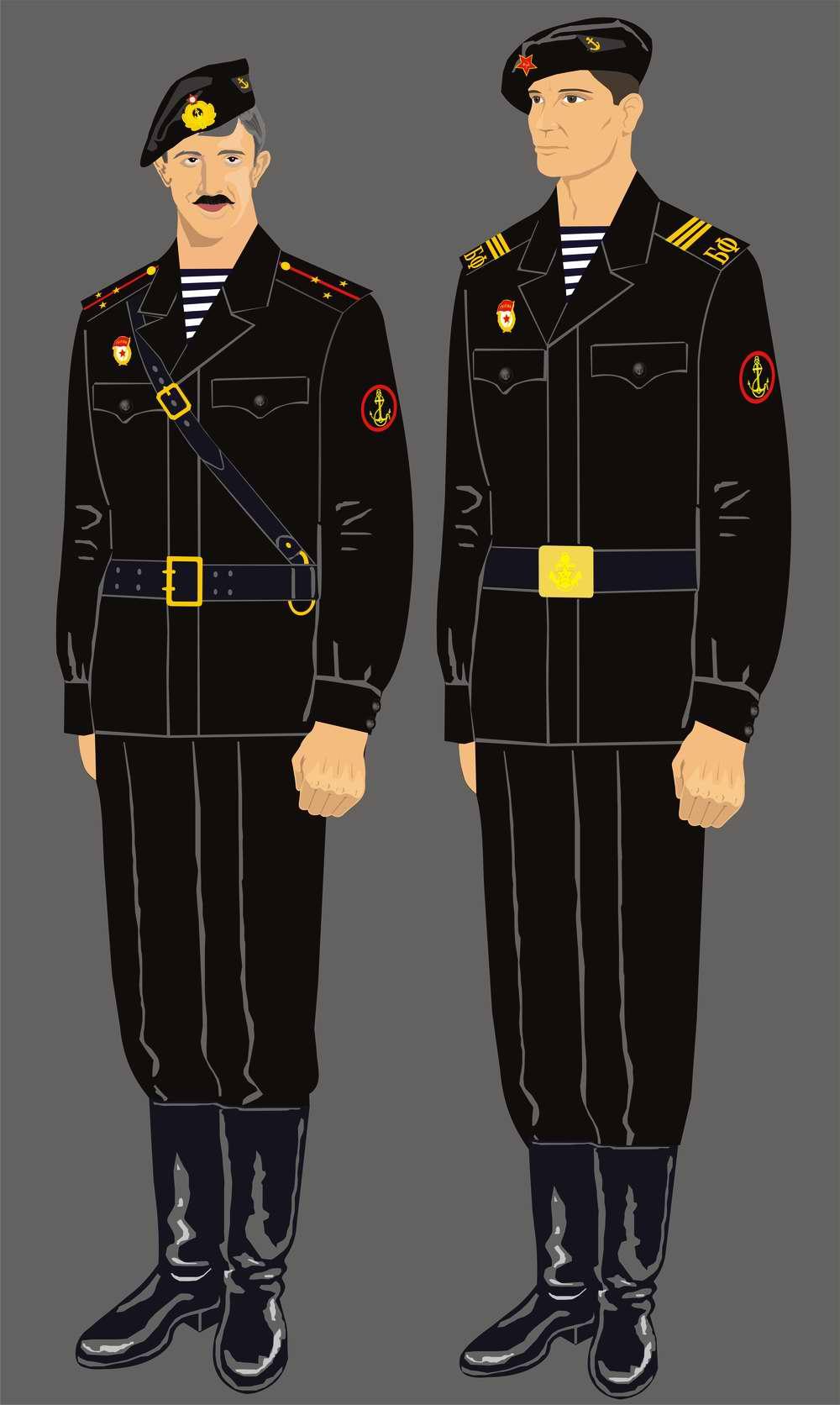 Форма офицеров и сержантов морской пехоты 1960-х годов