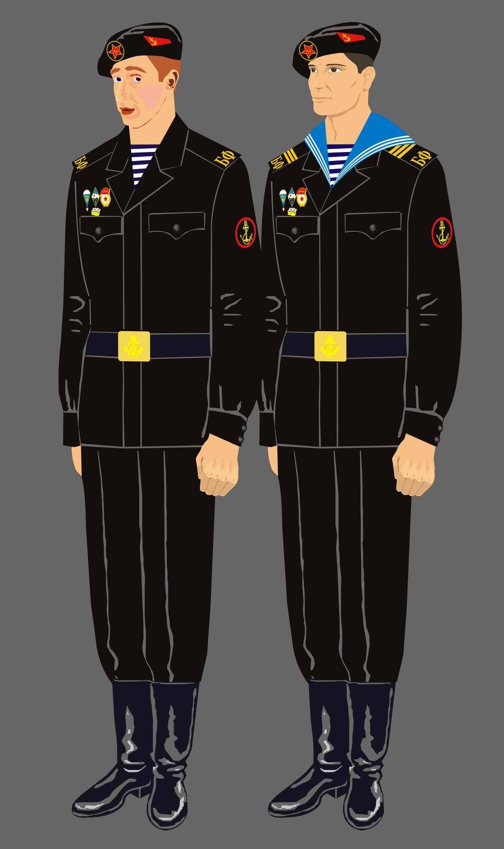 Форма матросов и сержантов морской пехоты 1960-х годов