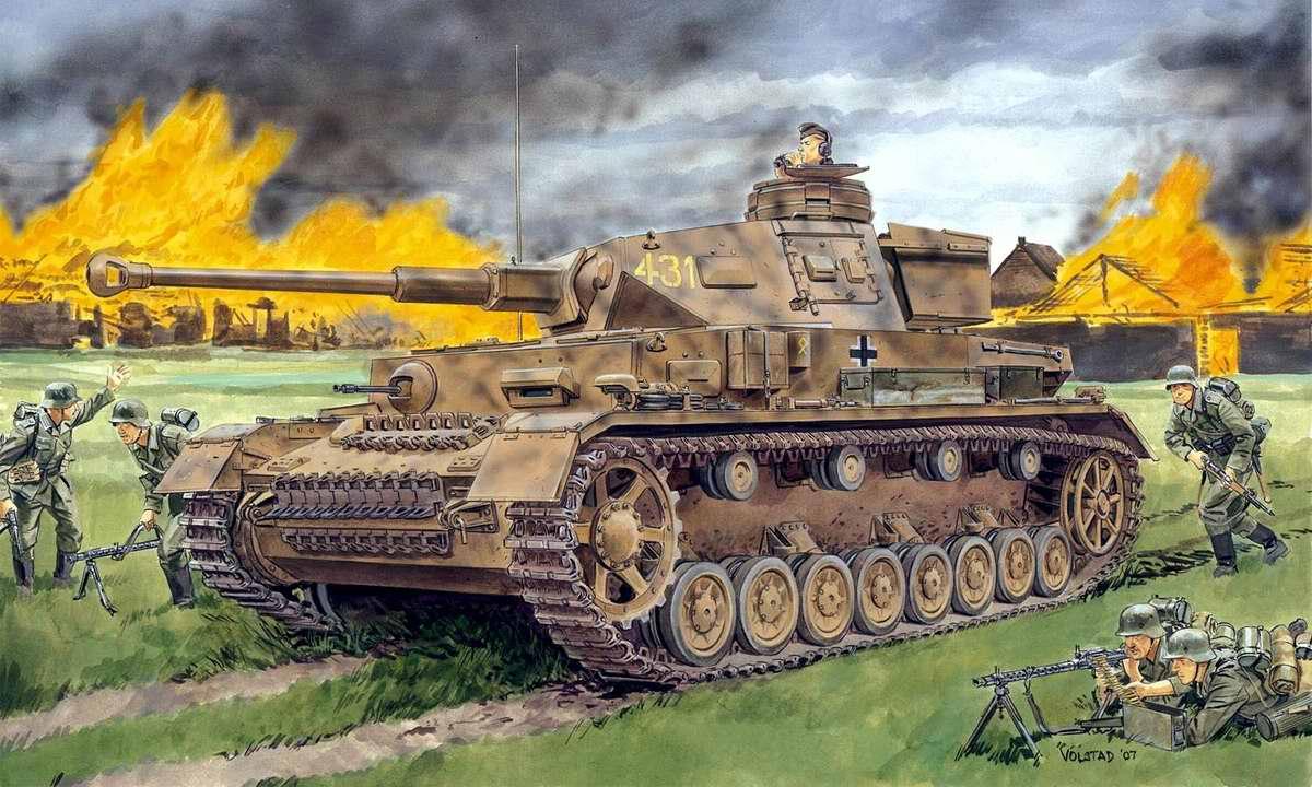 Немецкий средний танк PzKpfw IV (Ron Volstad)