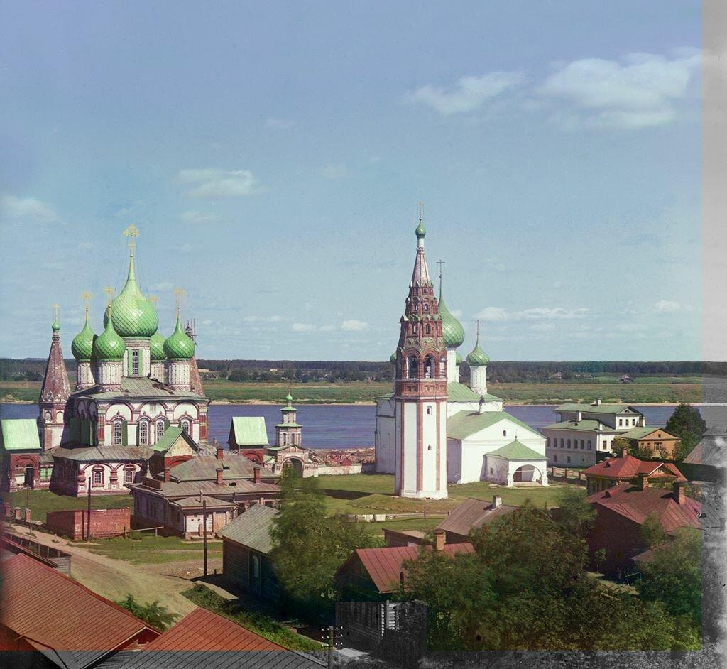 Общий вид церкви Иоанна Златоуста в Коровниках (с мельницы), с юго-запада. Ярославль. 1911