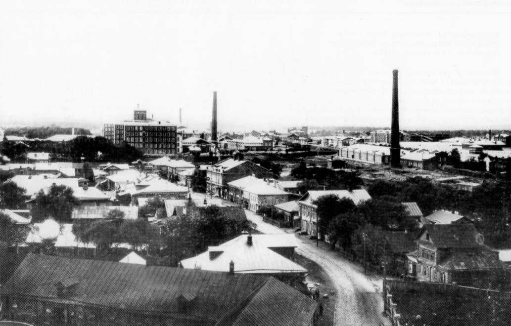 Вид с колокольни Монастыря 1910