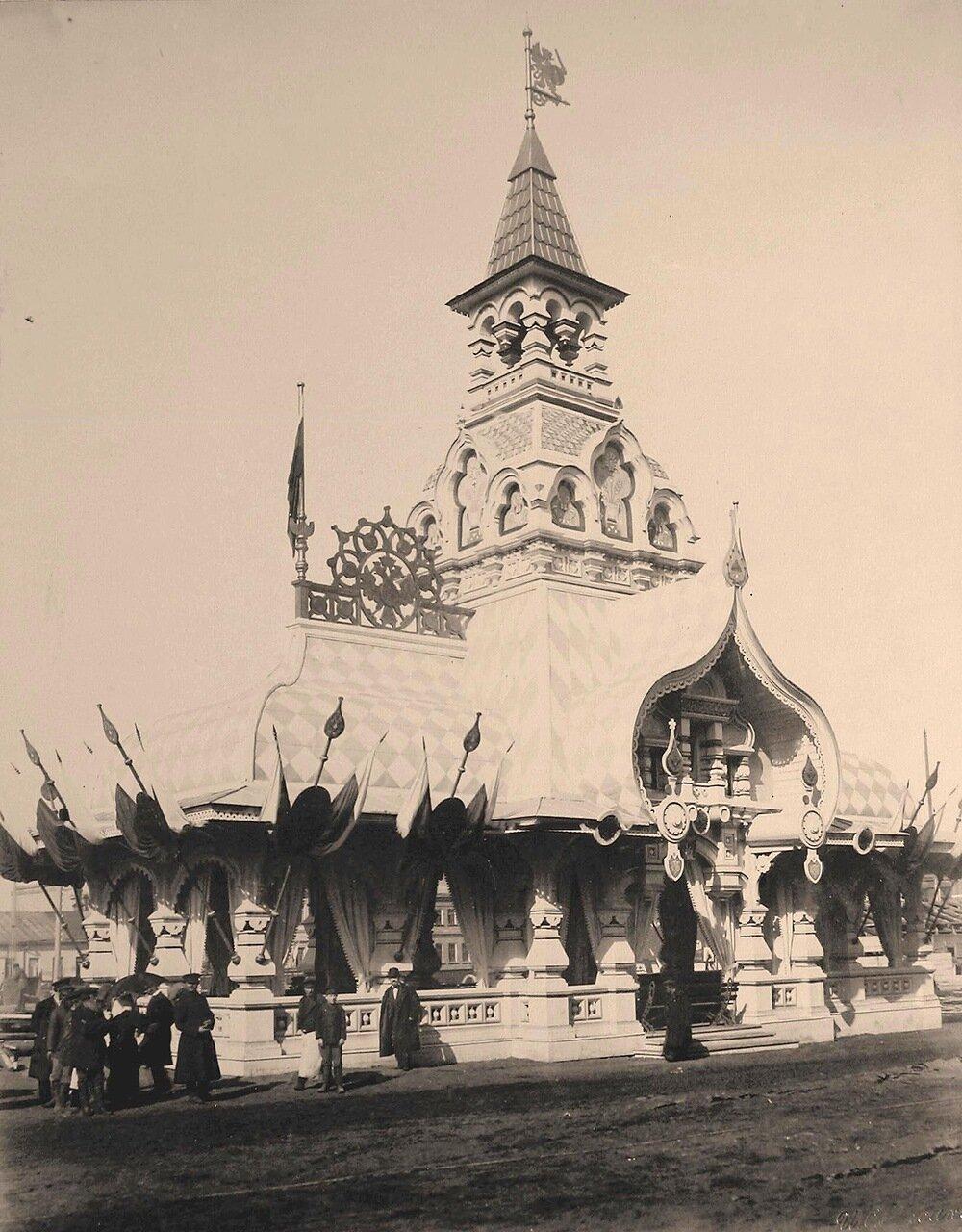 Вид одного из павильонов, выстроенных к торжествам коронации на углу Тверской и Садовой-Триумфальной улиц