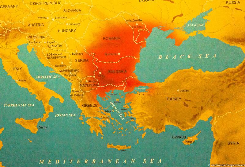 Карта распространения фракийских племен