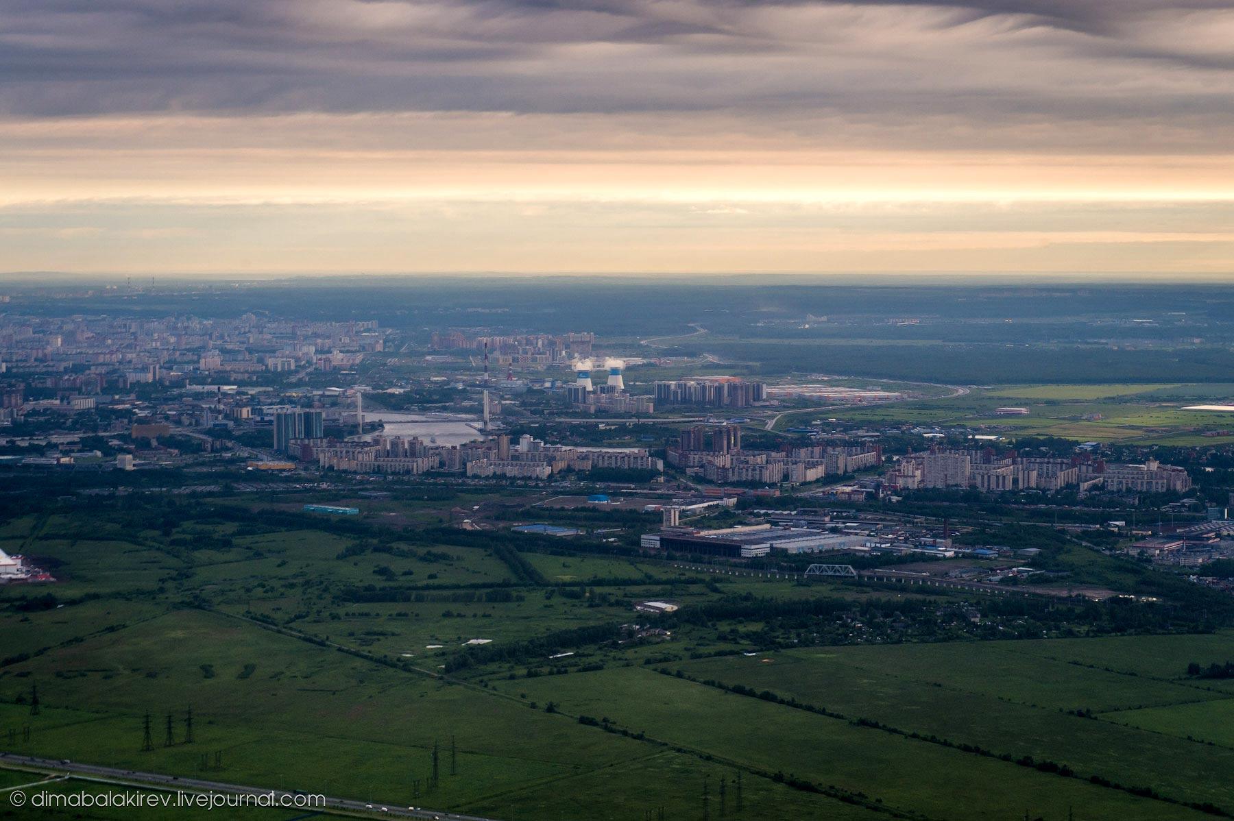 Пролетая над Сантк-Петербургом