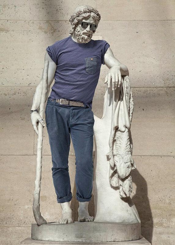 Античные статуи и уличная мода