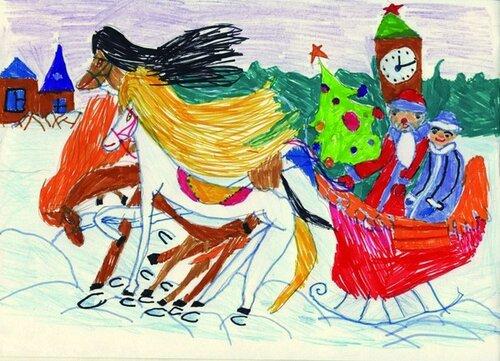 Открытки нарисованные детьми ждет