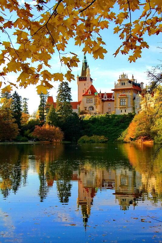 Průhonice.Парк и замок Пругоницы. Чехия