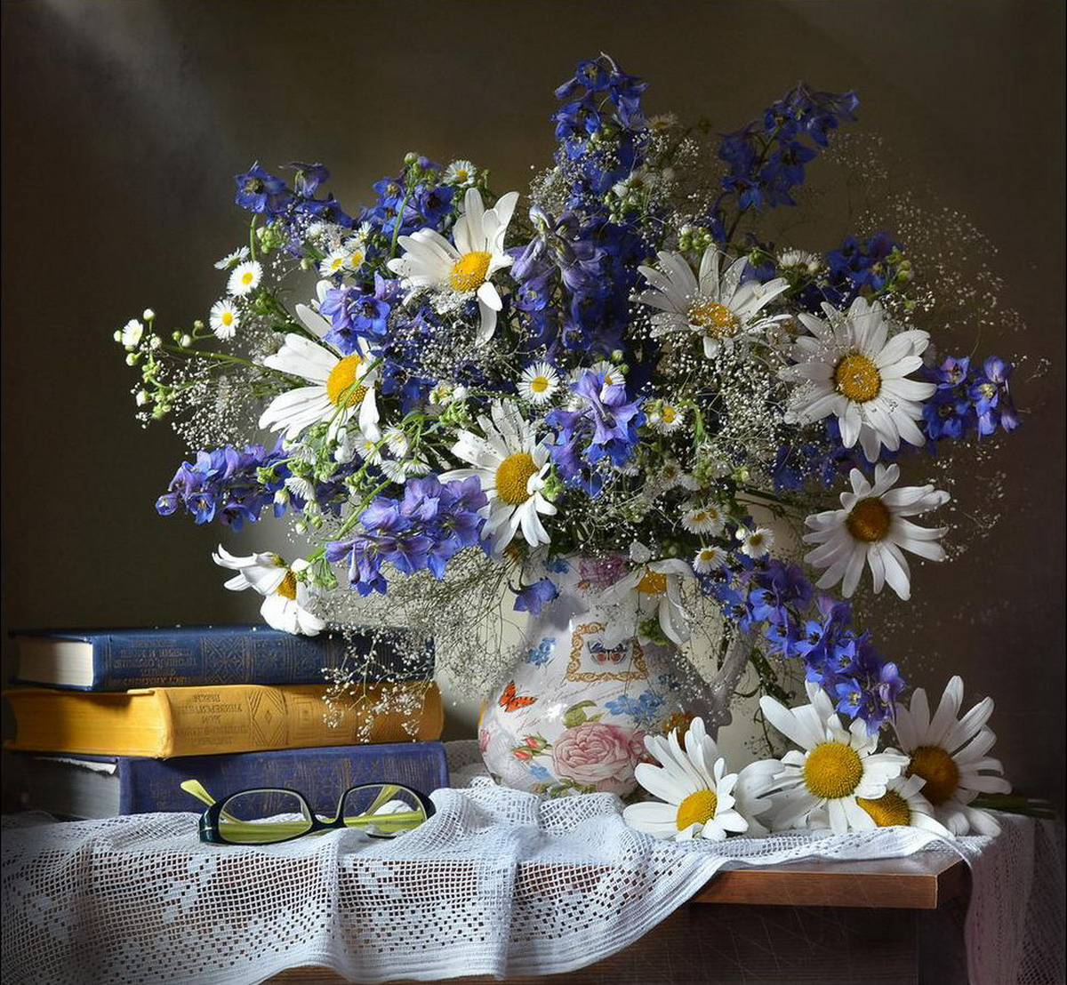 Цветы Ромашки Натюрморт