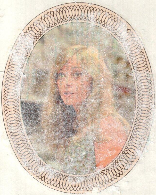 Переводная картинка из ГДР девушка Ana Szalas 1974