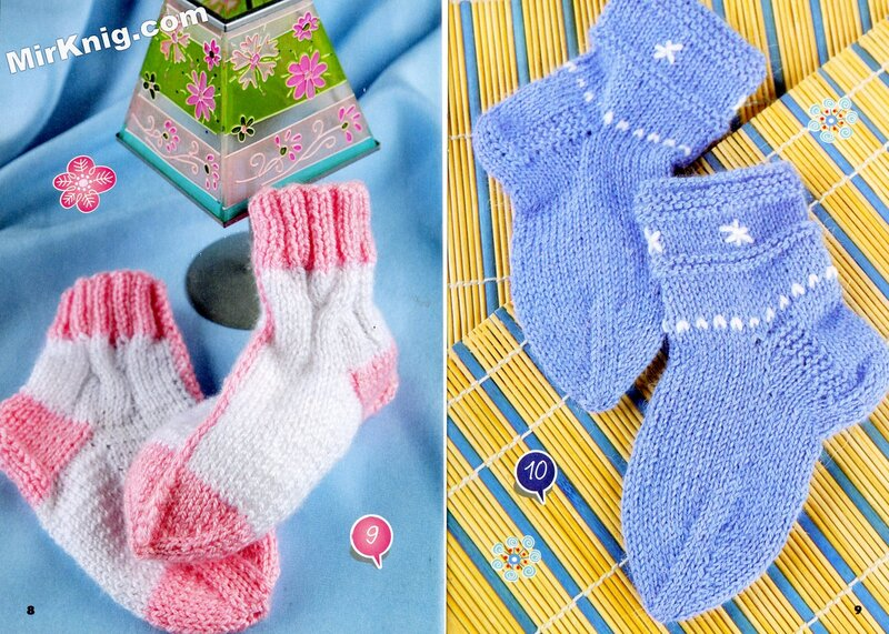 Вязание варежек для малышей 20