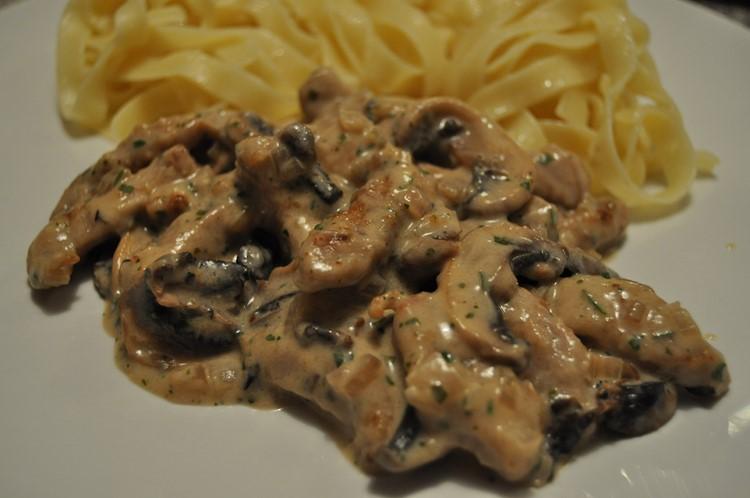 Говядина в грибном соусе рецепт с фото