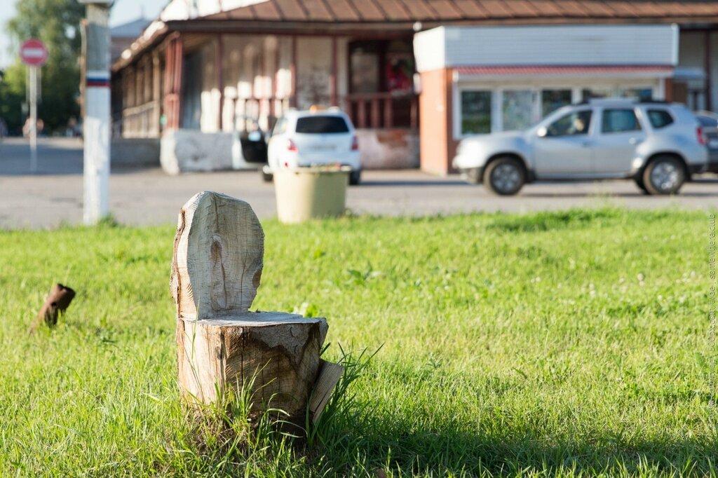 Пень-стул в Юрьеве-Польском