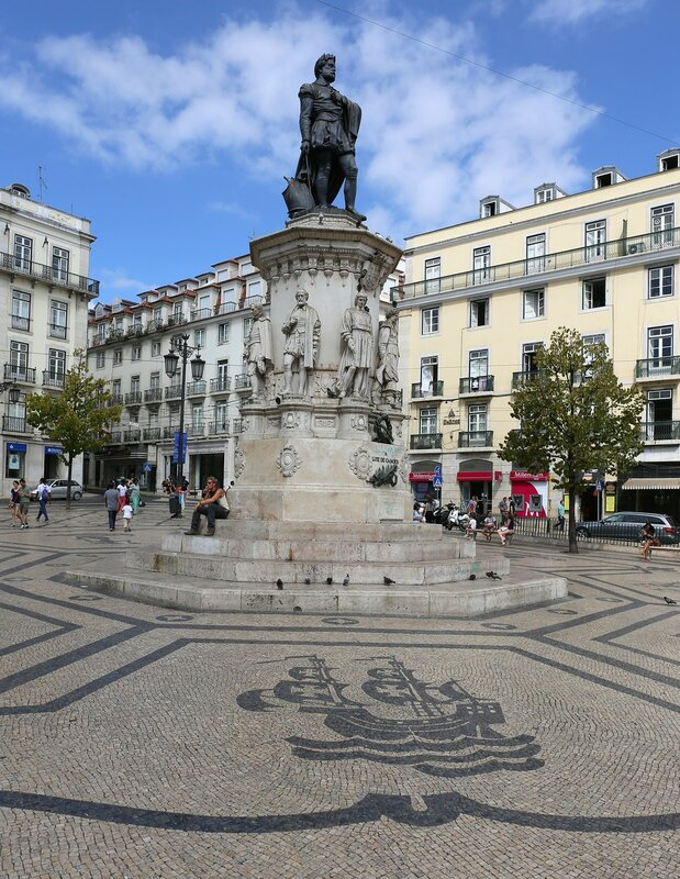 Lisbon. The Luis camões square (Praça Luís de Camões)