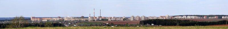 Урбанистическая панорама Чепецка с горы Мамониха