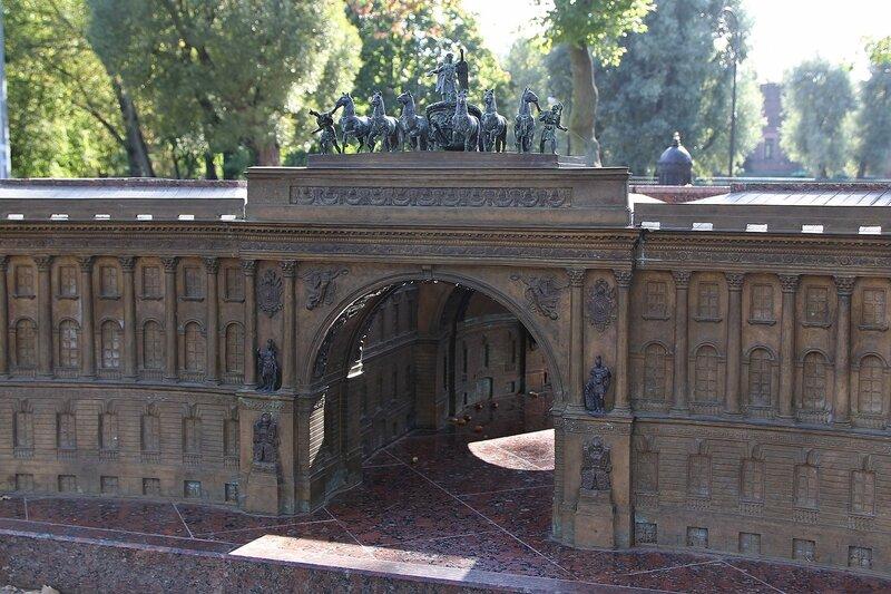 Триумфальная арка в здании Главного штаба на Дворцовой площади - Санкт-Петербург в миниатюре Img_8032