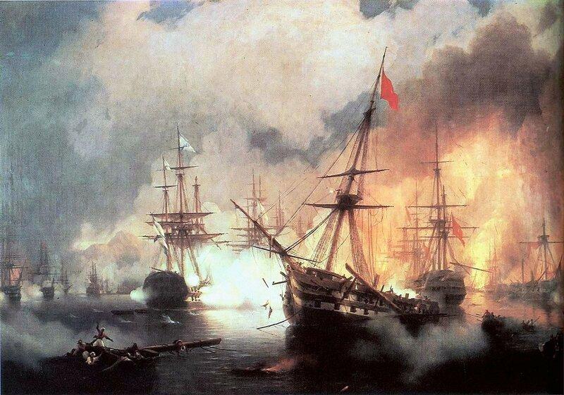 Айвазовский. Морское сражение при Наварине (2 октября 1827).jpg