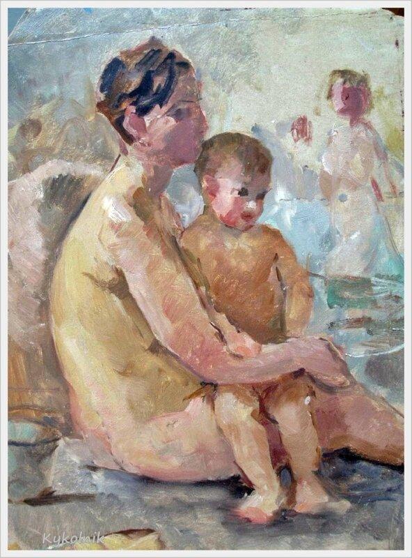Фото мамы и сына в бане 4 фотография