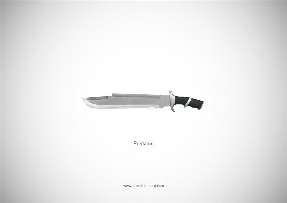 Знаменитые клинки, ножи и тесаки культовых персонажей / Famous Blades by Federico Mauro - Predator