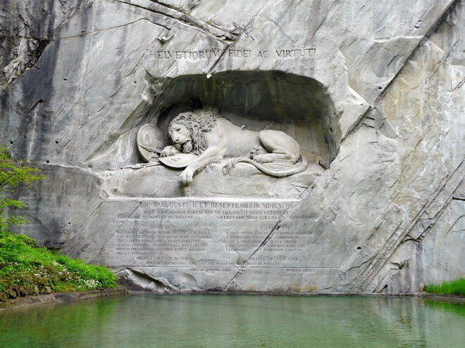 Умирающий лев. Люцерн, Швейцария