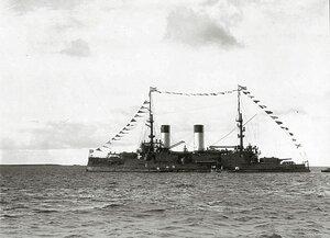 Эскадренный броненосец «Князь Суворов» на Ревельском рейде, 26 сентября 190