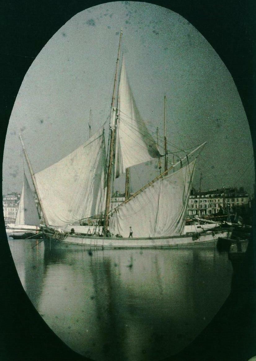 Порт Марсель. Парусник. 1920