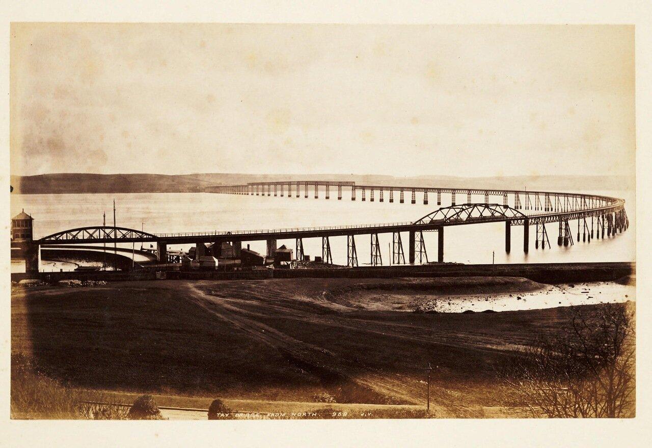 Фотография моста до его разрушения