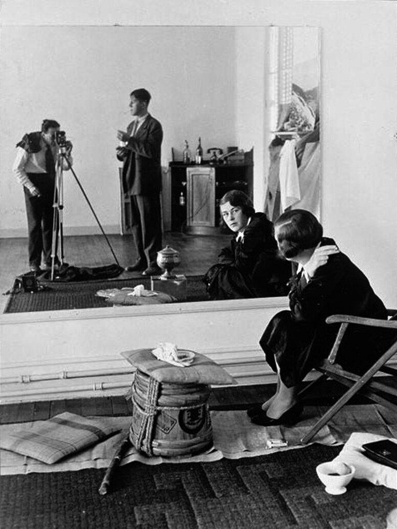 1939. Автопортрет Кокошки и Брассая через зеркало