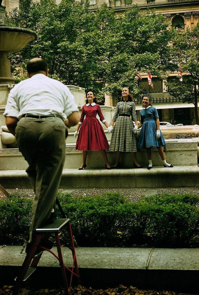 1957. Нью-Йорк. Съемка рекламы