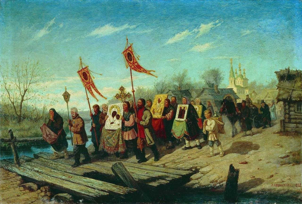 Крестный ход. 1882, Леонид Соломаткин (1837-1883)