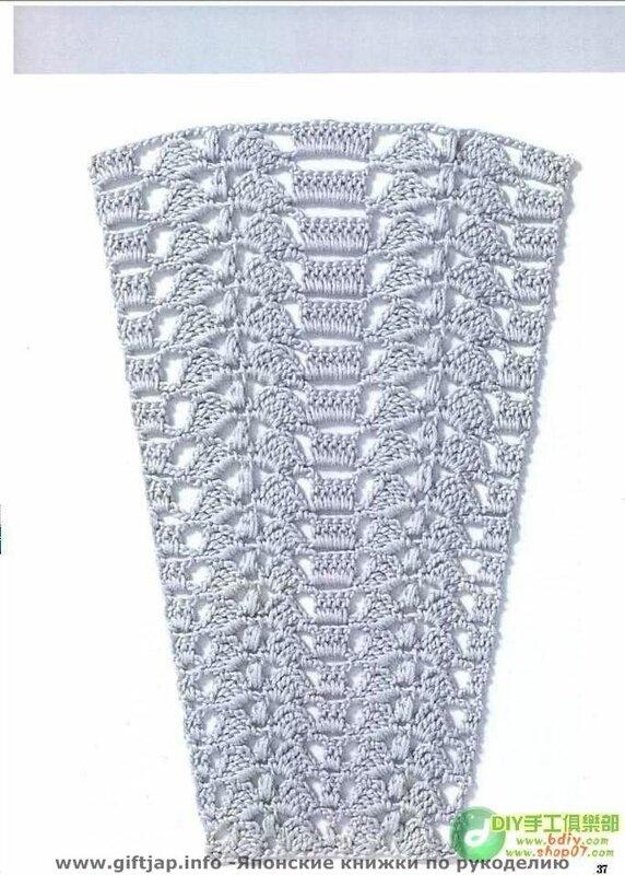 Узоры кр. с расшинением (для юбок). Фото