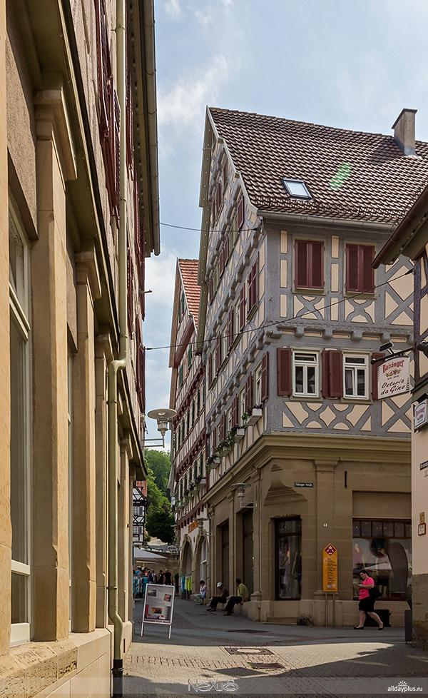 Herrenberg, центр старого города.