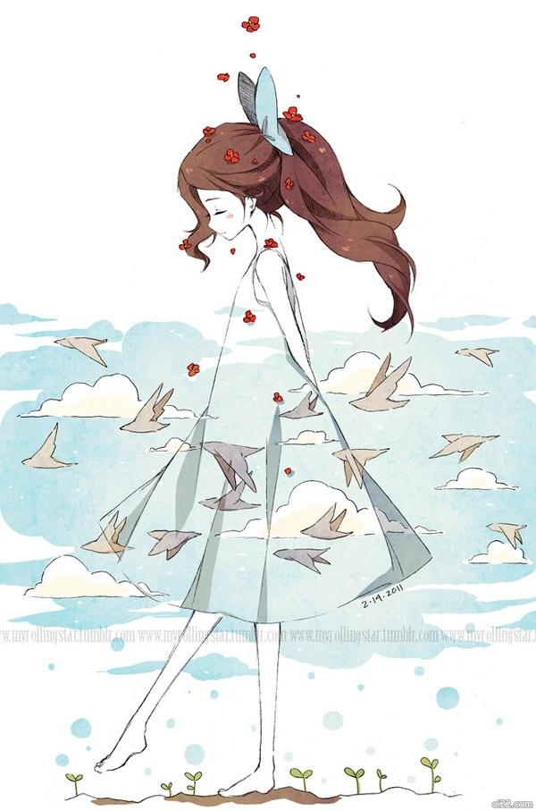 图片-插画师Cartoongirl7的可爱女孩们插画作品欣赏(oi22.com)