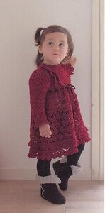Бордовое ажурное платье по мотивам Каваджи Юмико