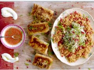 Как подать конвертики с салатом и сальсой из серии Обед за 15 минут