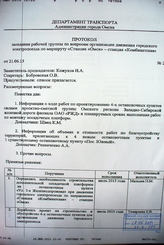 Протоколы заседания по хасп