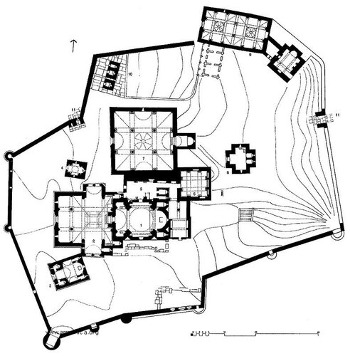 Монастырь Ахпат, генплан