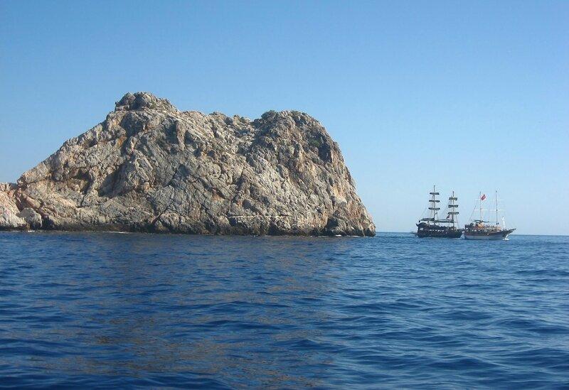 Экскурсия на яхте в Алании - морская прогулка вокруг полуострова - Экскурсии, Техника, Порт, Пещеры, Море, Крепость, Горы - turkey, alanya