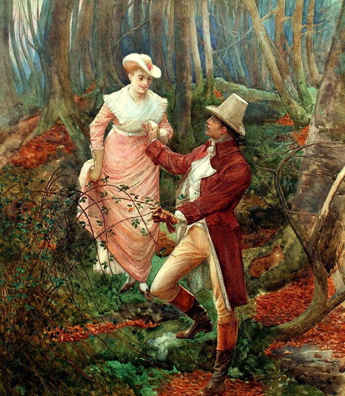 Английский художник Edgar Bundy (1862-1922)