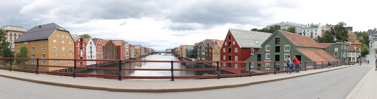 Тронхейм. Старый мост (Gamle Bybrua), panorama